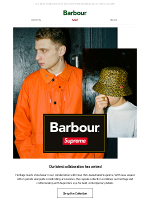New for AW20: Barbour x Supreme