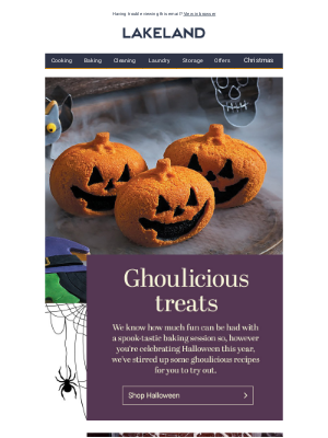 Lakeland (UK) - Ghoulicious recipes for you to try