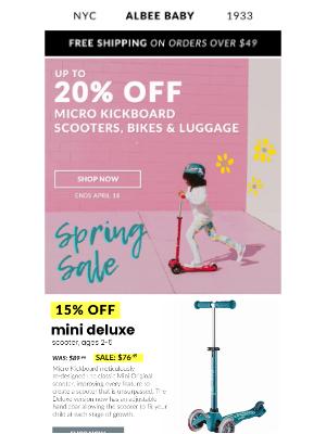 Albee Baby - 🛴 Micro Kickboard Spring Scooter Sale! 🛴