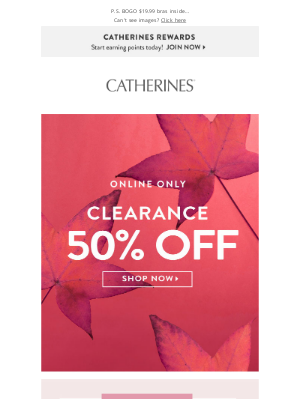 Catherines - Almost unbe-leafable 🍁 50% off clearance!