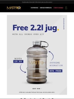 Matrix Nutrition (UK) - Free 2.2L Jug Over £25!