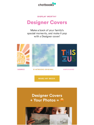 Chatbooks - Covers That Spark Joy ✨