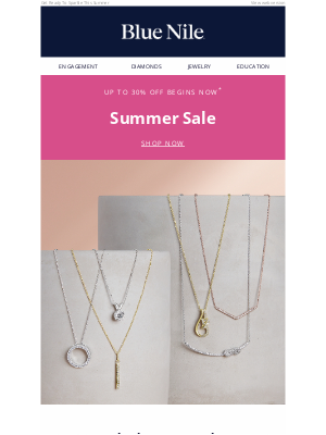 Blue Nile - Celebrate Memorial Day With Up To 30% Off Summer Sale