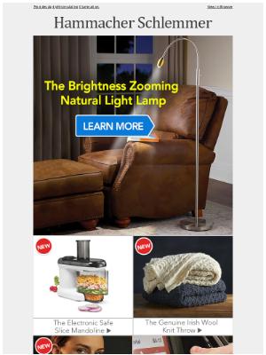 Hammacher Schlemmer - The Brightness Zooming Natural Light Lamp