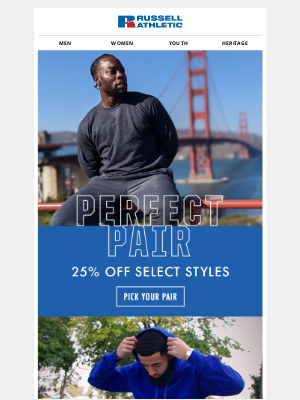 Russell Athletic - Last Day to Pick Your Perfect Pair!