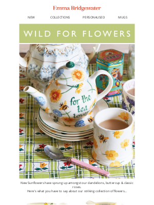 Emma Bridgewater (UK) - 🌻A bouquet of flowers, new & reviewed by you🌻