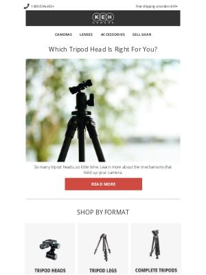 Keh - Our Breakdown Of Tripod Head Types