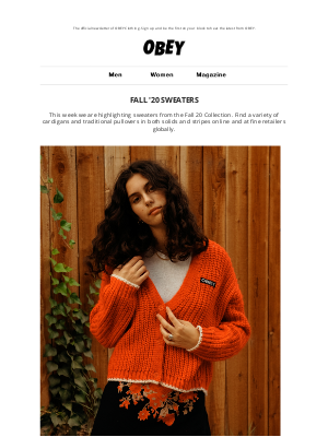 OBEY Clothing - FALL 20 - SWEATERS