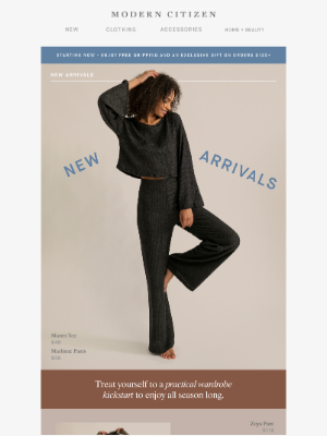 Modern Citizen - New arrivals for a relaxed, refined season