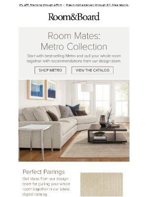 Easy living room ideas with Metro