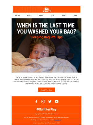 Kelty - When's the last time you washed your bag?
