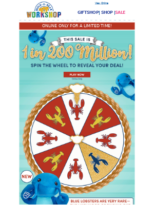 MYSTERY SALE! Final Day for 1 in 200 Million Savings