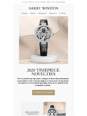 Harry Winston - Your Exclusive First Look at Timepiece Novelties