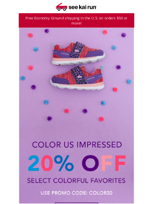 Add Some Color With 20% Off These Fun Styles!