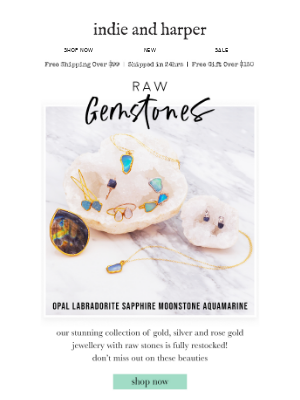 Raw Gemstones // back in stock 💎