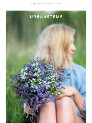 UrbanStems - Your welcome gift awaits + explore the benefits of plants
