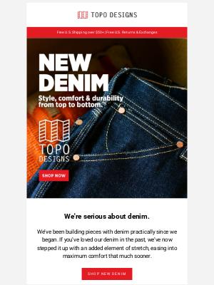 Topo Designs - NEW DENIM
