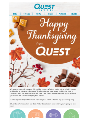 Quest Nutrition - Giving Thanks from our Quest Family to Yours