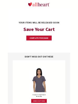 AllHeart - Your cart expires soon