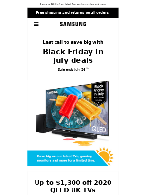 loremipsumdolor, last call to save big with Black Friday in July deals