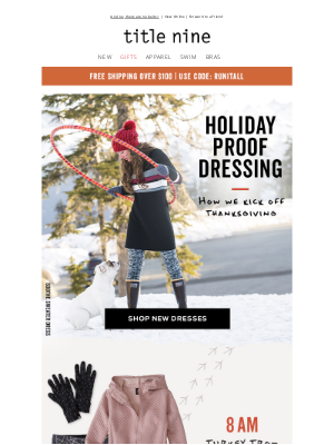 Title Nine - Plan for T-Day dressing