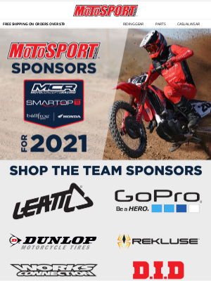 MotoSport - MotoSport Sponsors Smartop | Bullfrog Spas | MotoConcepts | Honda Team For 2021