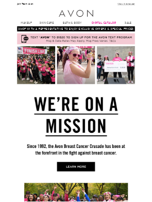 Avon - Our Mission To Support Breast Cancer Awareness