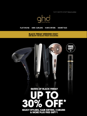 ghd (UK) - THIS NEVER HAPPENS: 30% OFF the award winning platinum+ styler