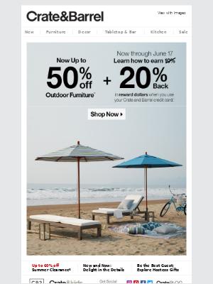 Must-see outdoor savings.