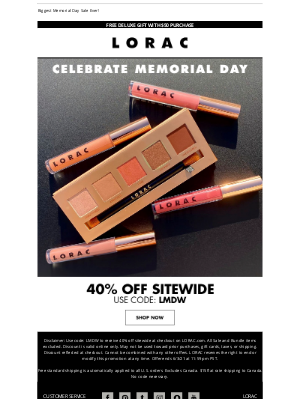 LORAC Cosmetics - 40% Off Sitewide Starts Today