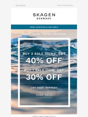 Skagen - Spring deals have sprouted