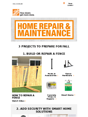The Home Depot (CA) - 🍁 Prepare for fall with these key projects!