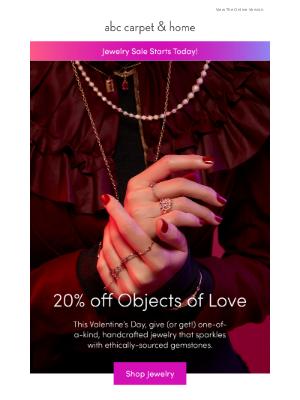 ABC Carpet & Home - rare sale: 20% off jewelry