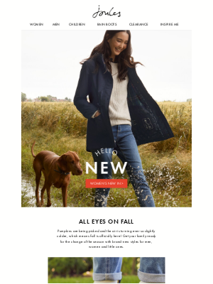 Joules (UK) - New Fall Styles for the whole family