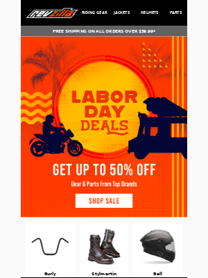 RevZilla - Up to 50% Off Labor Day Deals