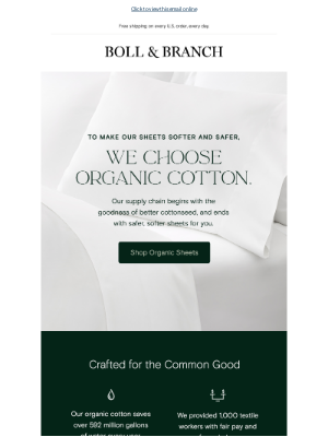 Boll & Branch - Why organic cotton is our one true love