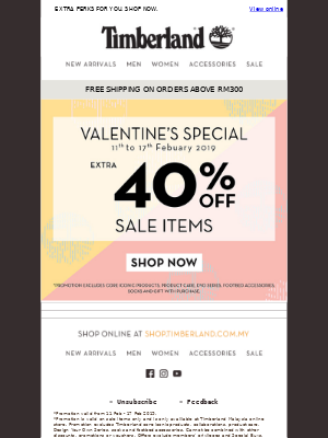Time for ❤. Get Extra 40% OFF Before Time Runs Out.