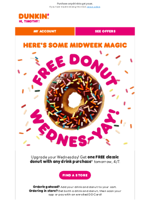 Dunkin' Donuts - Which FREE 🍩 are you getting tomorrow? 👀