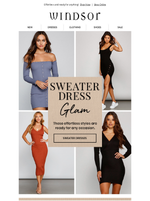 Windsor Fashions - You'll 💜 These Sweater Dresses