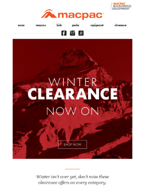 Winter clearance is now on