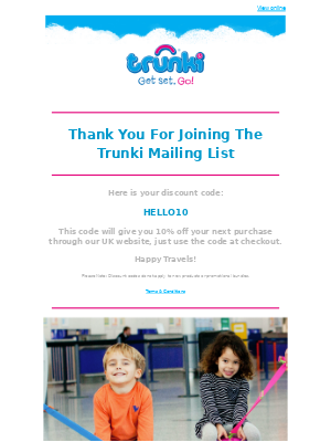 Trunki (UK) - Here Is Your Discount Code From Trunki 😍