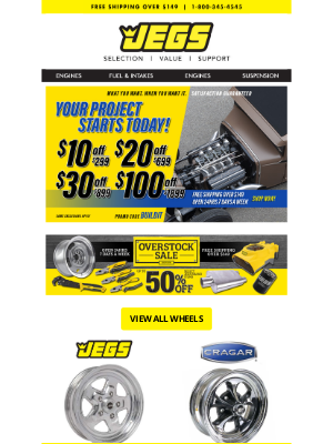 JEGS Performance - Save on a Huge Selection of Wheels for Cars and Trucks!