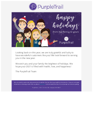 PurpleTrail - Happy Holidays from All of Us at PurpleTrail