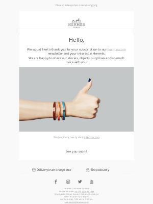 Hermes (UK) - Your Hermès newsletter subscription