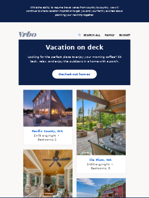 VRBO - Deck out your vacation