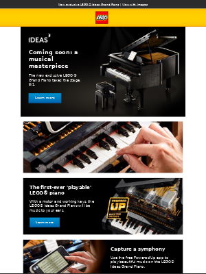 The exclusive LEGO® Grand Piano arrives 8/1.