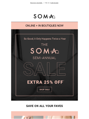 Soma Intimates - This sale is big time! 25% off.