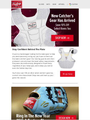Rawlings Sporting Goods - New Catchers Gear Is Here, & You'll Save 10% On Select Items⚾