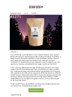 BeanBox - Power up with the trail mix coffee