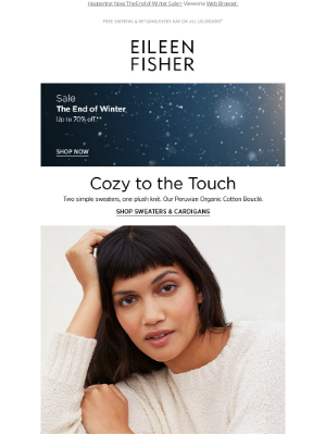 EILEEN FISHER - Our Coziest Cotton